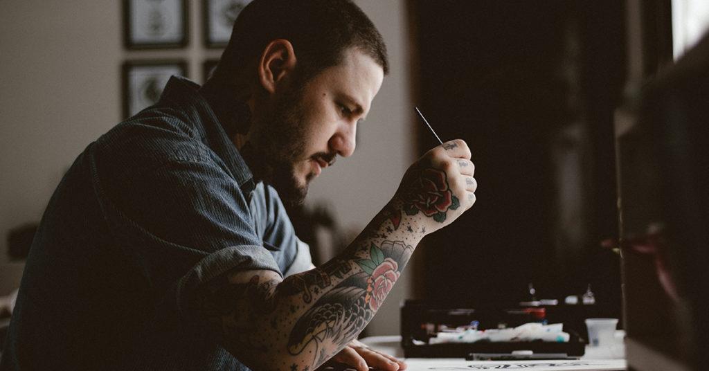 Risanje tattoo motiva