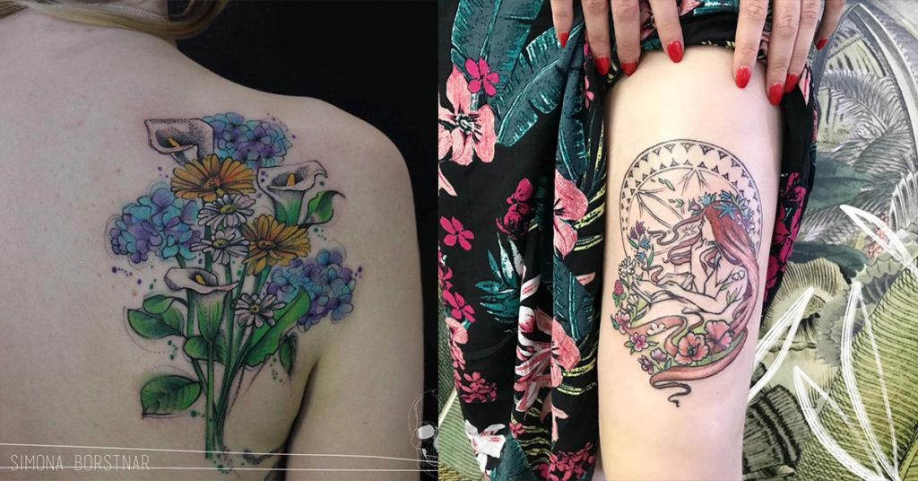 Primeri dokončane in nedokončane tetovaže
