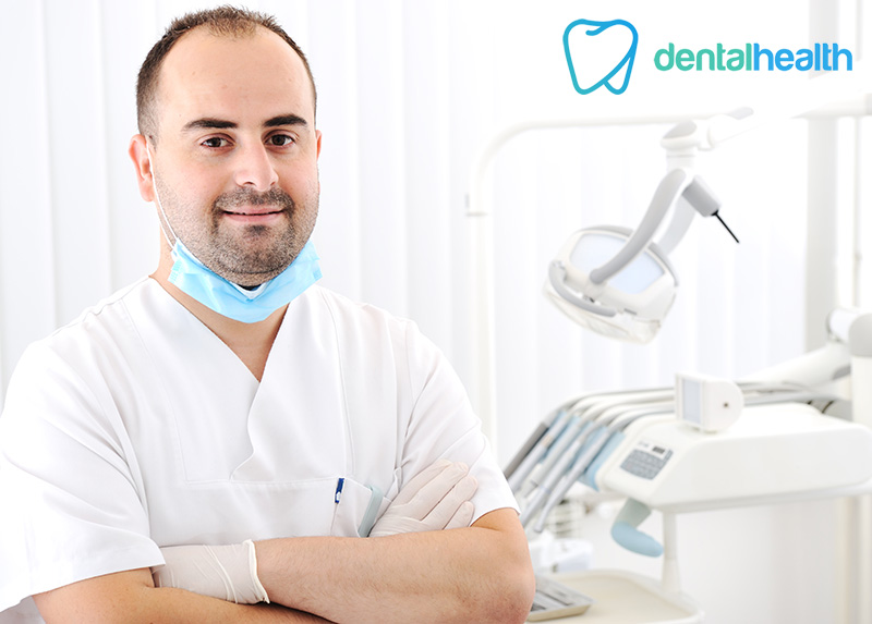 Dentis at his dental office